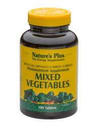Natures Plus Mixed Vegetables® (Gemischtes Gemüse) 180 Tabletten