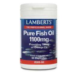 Lamberts Pure Fish Oil (Fischöl) 1100mg 60 Softgels