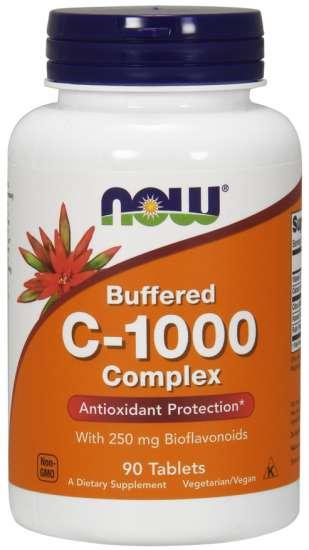NOW Foods C-1000 Complex with 250mg Bioflavonoiden 90 Tabletten (vegan)
