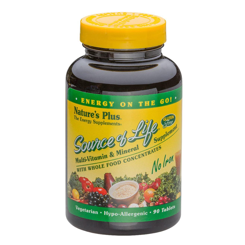 Natures Plus Source of Life® No-Iron Eisenfrei 90 Tabletten (186,4g)