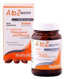 Health Aid  A to Z Multivitamin 30 Tabletten