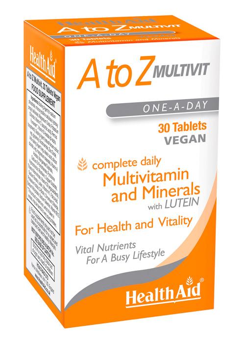 HealthAid  A to Z Multivit 30 Tabletten (vegan)