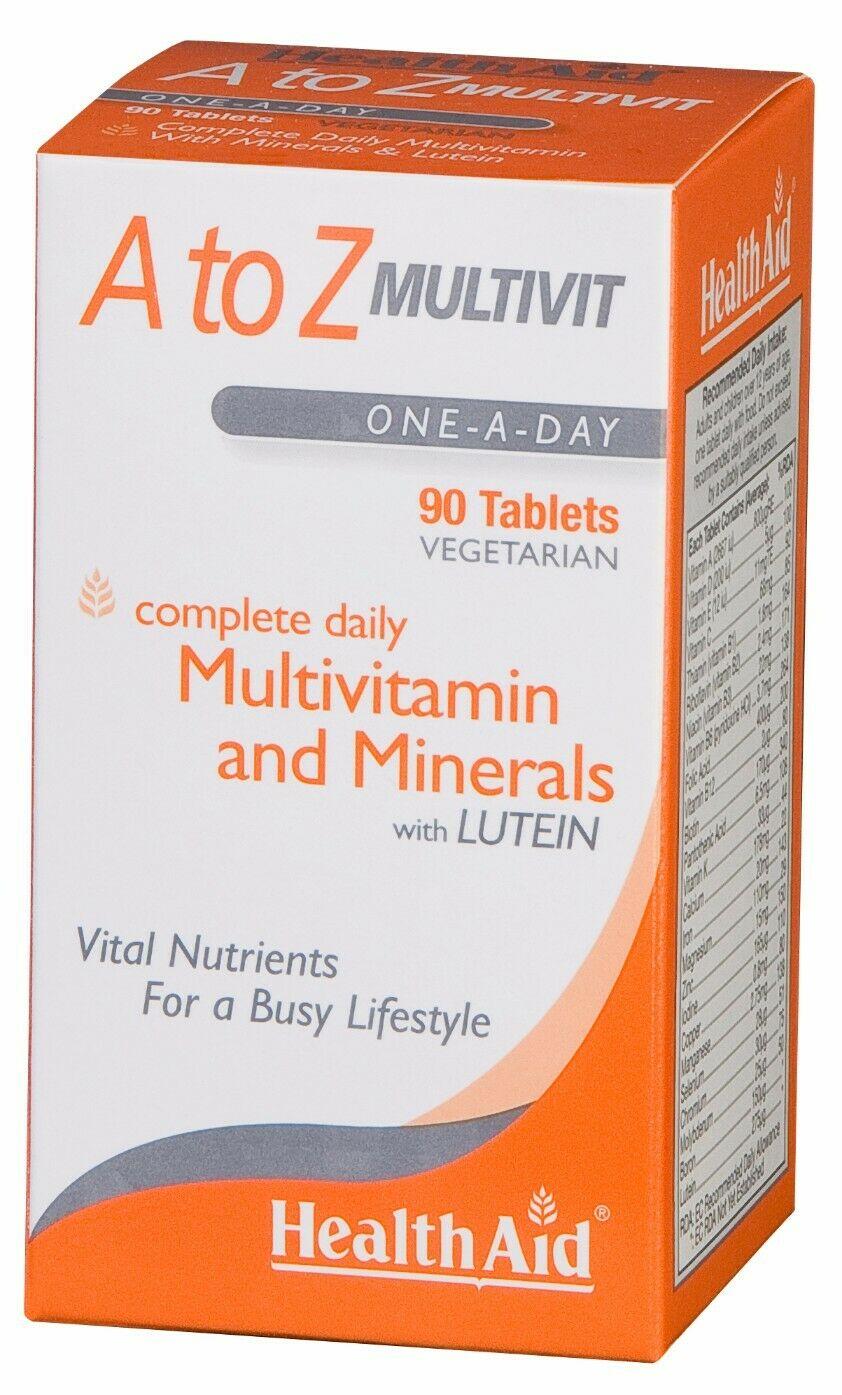 HealthAid A to Z Multivit 90 Tabletten (vegan)