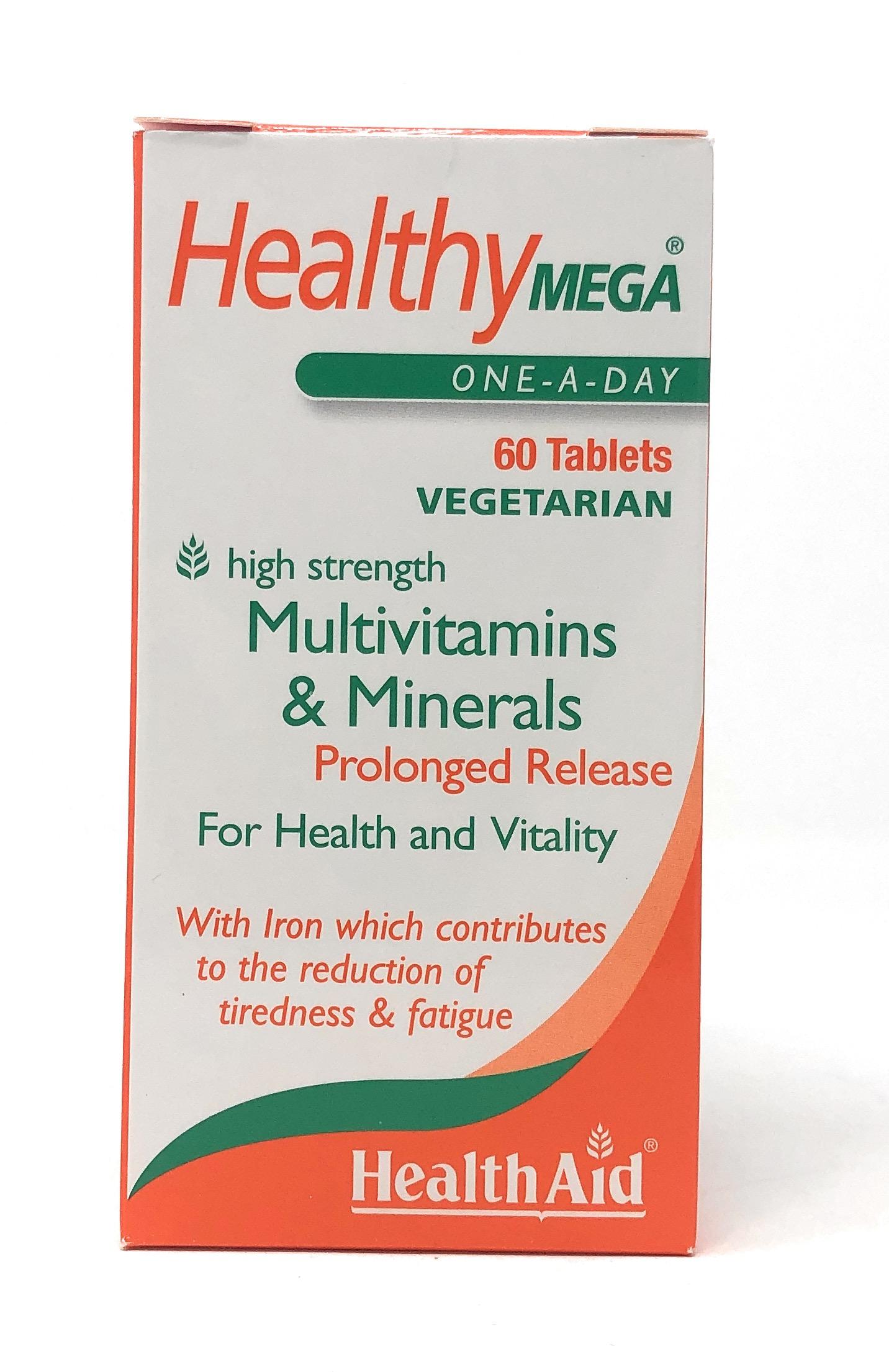 HealthAid Healthy Mega® Multivitamin One-a-Day Prologed Release (verz. Freisetzung) 60 Tabletten