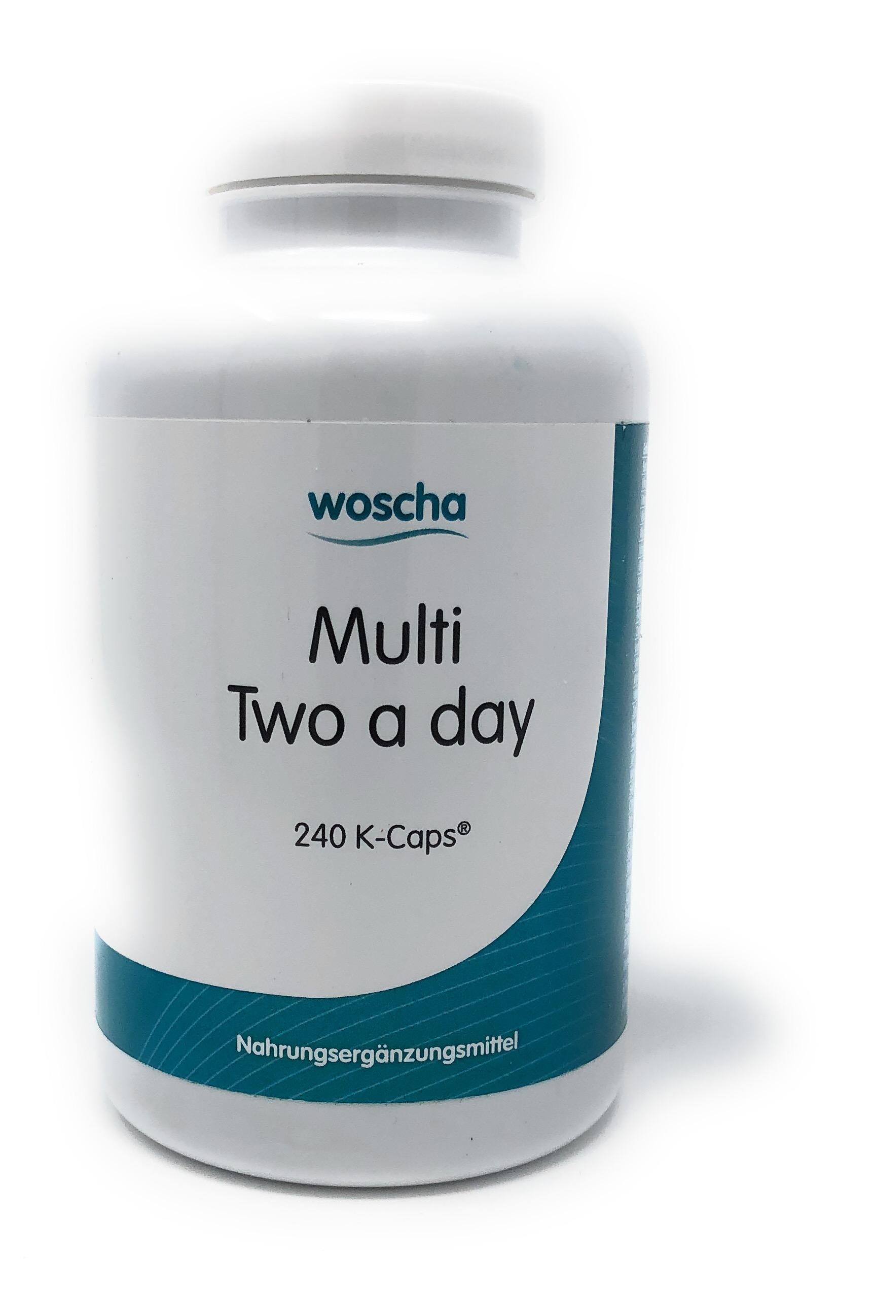 woscha Multi Two a Day 240 K-CAPS® (201g) - neue Zusammensetzung