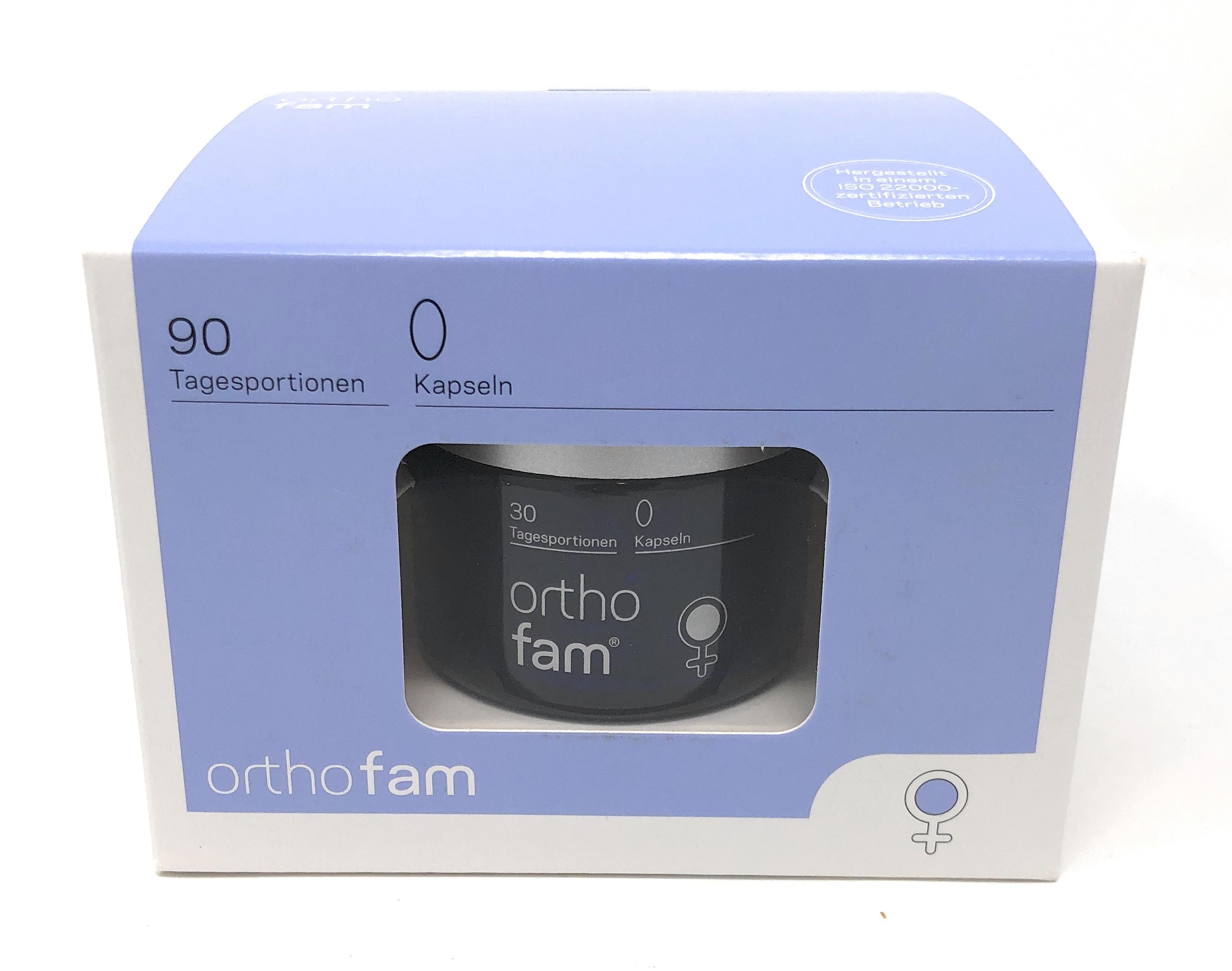 orthomed orthofam® 90 Tagesportionen (180 SG x 0,675g = 121,5g)