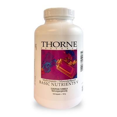 Thorne BASIC NUTRIENTS V (mit Cu,ohne Fe) 180 veg. Kapseln