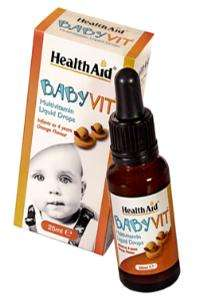 HealthAid BabyVit®  - Orange Flavour (Ages 0 to 4 Years) 25ml Tropfflasche