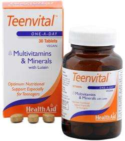 Health Aid Teenvital™ (Ages 12-16) 30 Tabletten