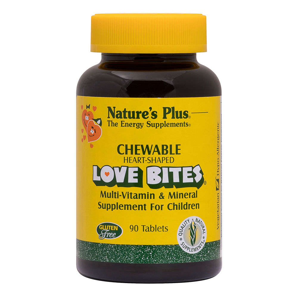 Natures Plus Love Bites® Childrens Chewable Multi-Vitamin and Mineral 90 Lutschtabletten
