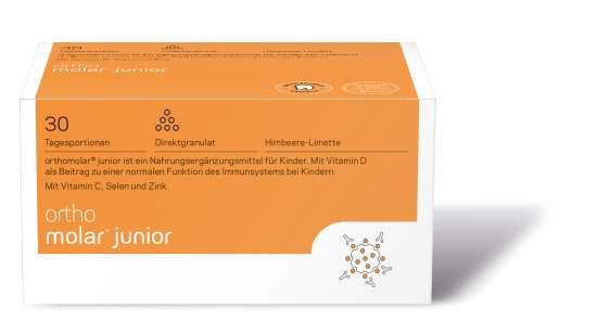 orthomed orthomolar® junior Direktgranulat Himbeer-Limette 30 Tagesportionen (30x1,6g = 48g)