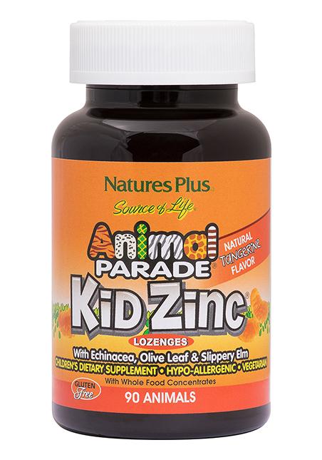 Natures Plus Source of Life Animal Parade® KidZinc Tangerine 90 Lutschtabletten (123,9g)