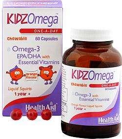 HealthAid KidzOmega One-A-Day 60 kaubare Kapseln