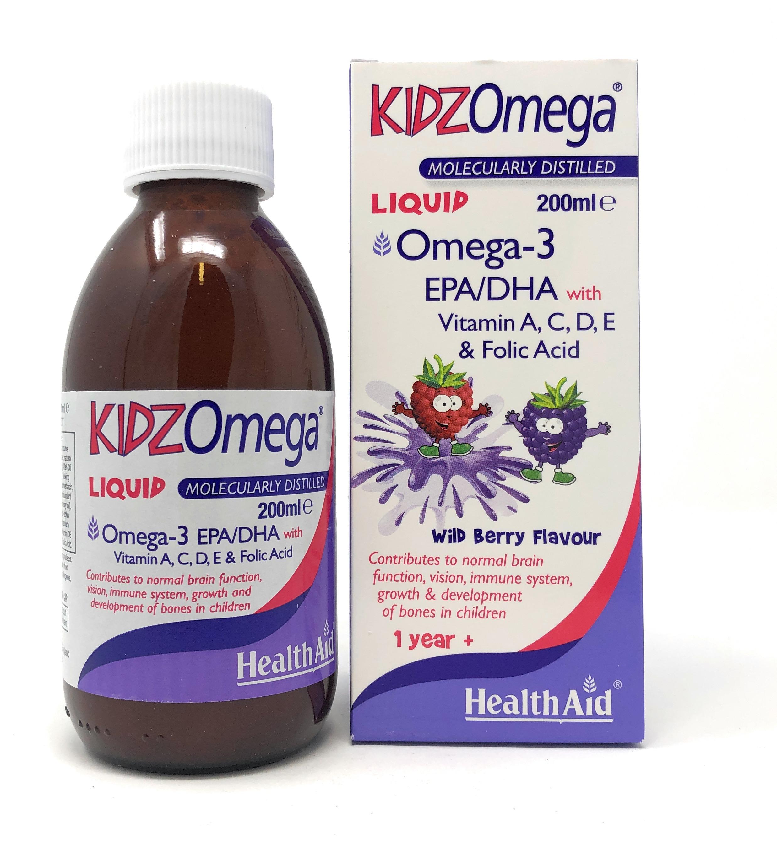 HealthAid KidzOmega (Vit A,D,E,EPA/DHA) 200 ml Flasche