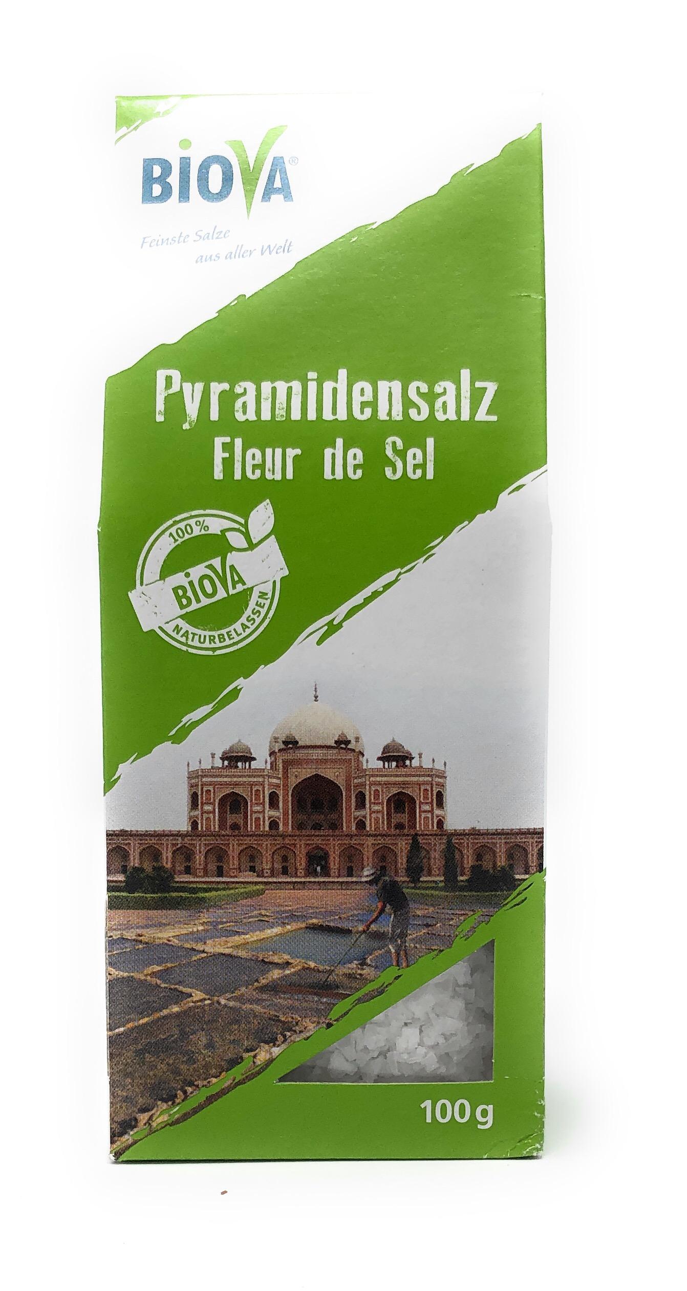 Biova Gourmetsalz Pyramidensalz Fleur du Sel aus Indien 2-12mm 100g