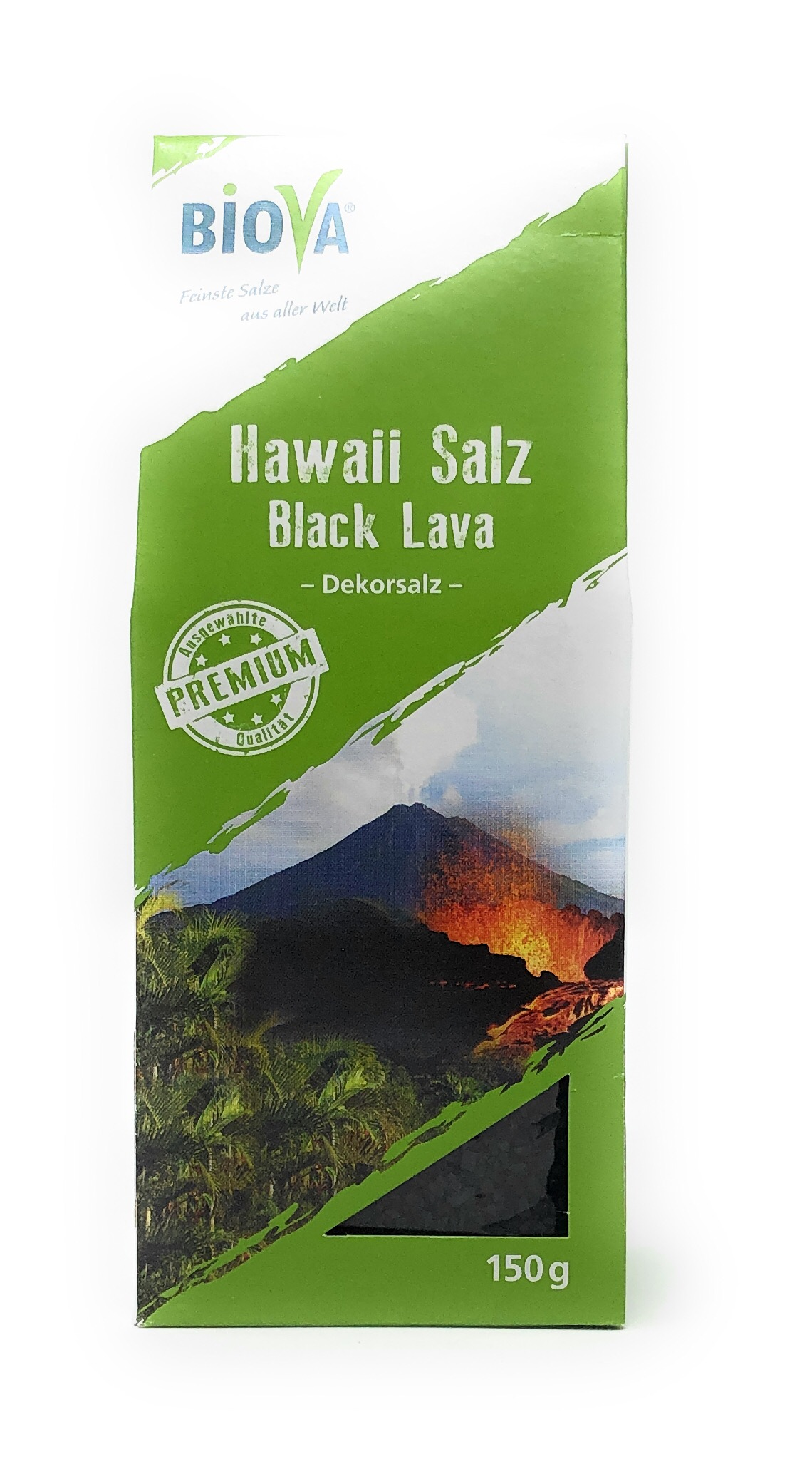 Biova Gourmetsalz Hawaii Salz schwarz* Black Lava 1-2mm 150g