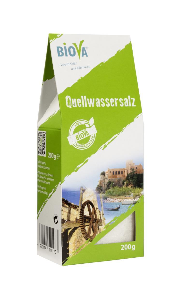 Biova Gourmetsalz Quellwassersalz aus Portugal 0,1-5mm 200g Faltschachtel