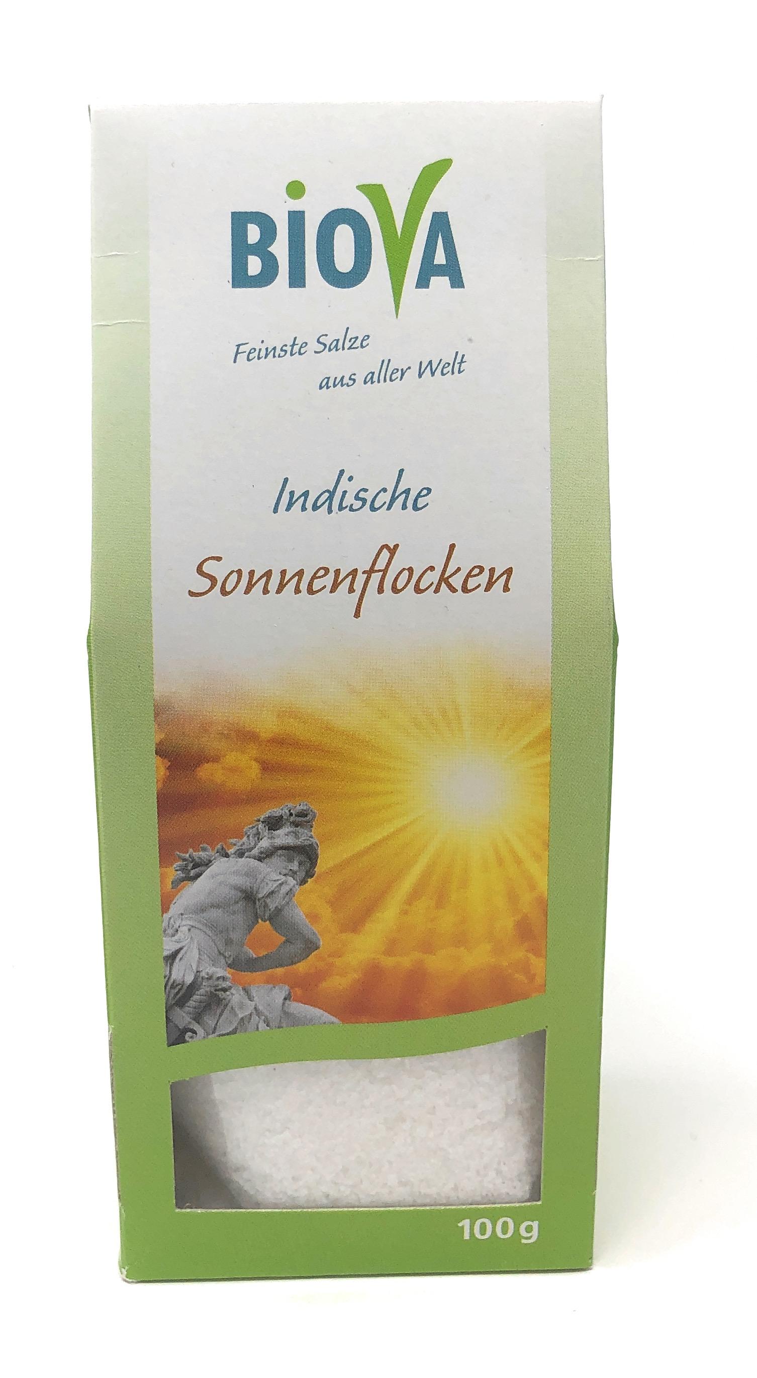Biova Gourmetsalz Indische Sonnenflocken - Meersalz - 100g Packung