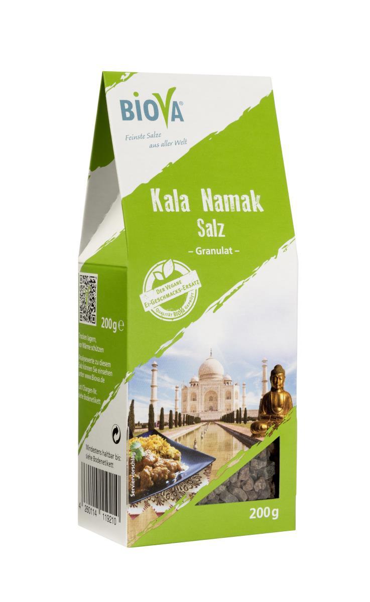 Biova Gourmetsalz Kala-Namak-Salz (Schwarzsalz) GRANULAT 2-5mm 200g