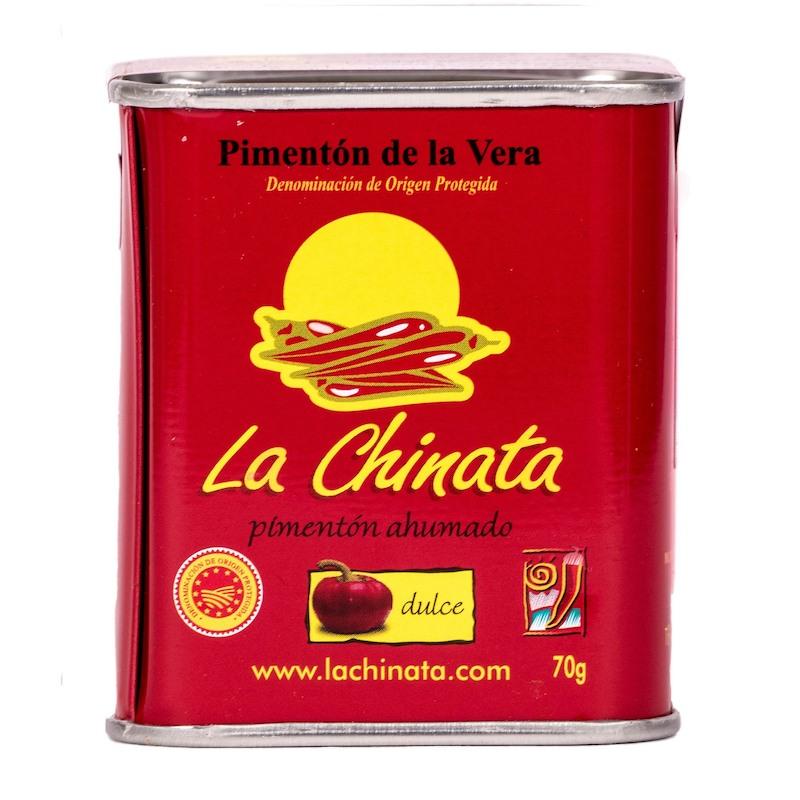 La Chinata Pimenton de la Vera dulce - Geräuchertes Paprikapulver edelsüß extra 70 g Dose