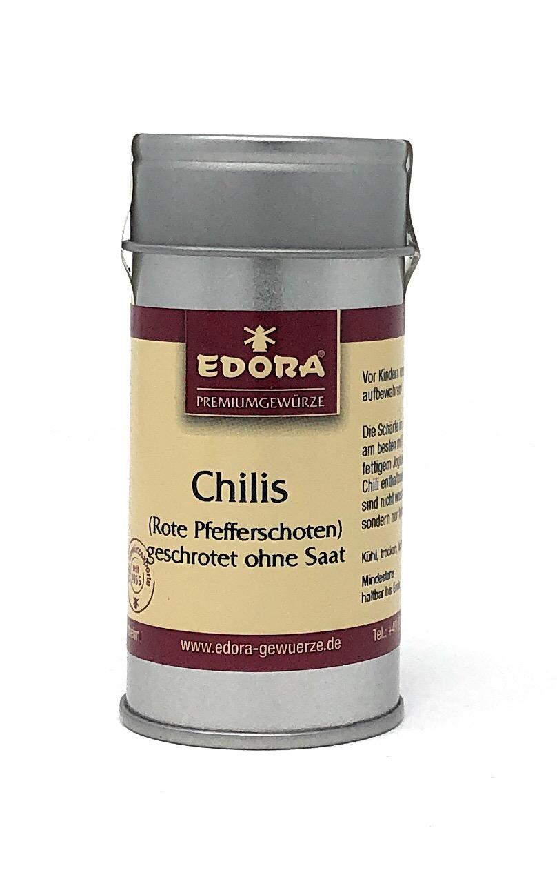 Edora Chilies geschrotet 25g Alu Streudose