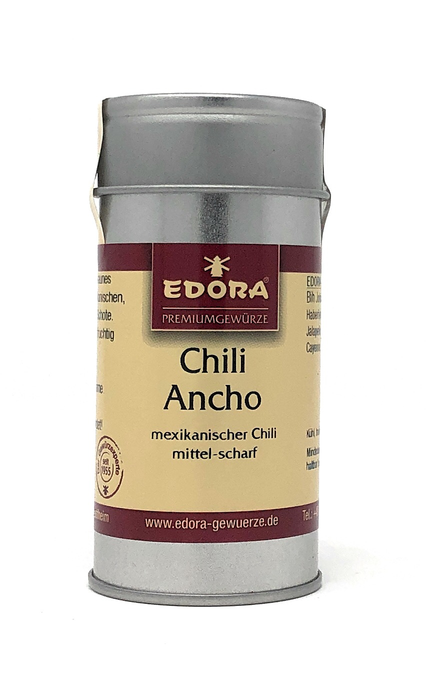 Edora Chili Ancho gem. 35g Alu Streudose - Schärfegrad 2