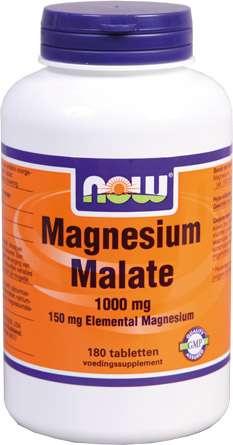 NOW Foods MAGNESIUM MALAAT 180 Tabletten