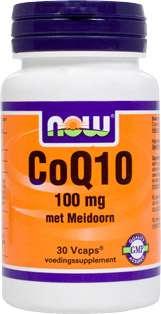 NOW Foods CO-Q10 100mg mit Weissdorn 30 veg. Kapseln (Vcaps®)