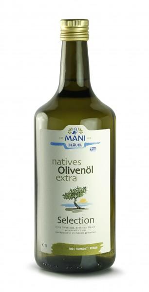 Mani Bio Olivenöl extra virgin Selection 1l Flasche (vegan)