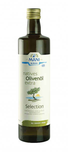 Mani Bio Olivenöl extra virgin Selection 0,75l / 750ml Flasche (vegan)