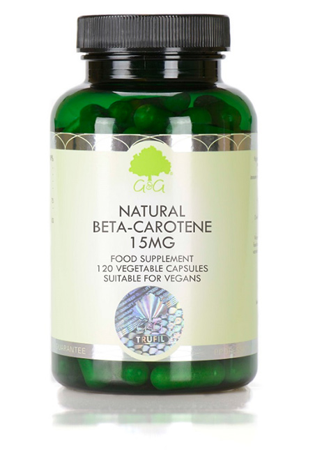 G&G Vitamins Natural Beta-Carotene 15mg 120 veg. Kapseln (47,4g) (vegan)