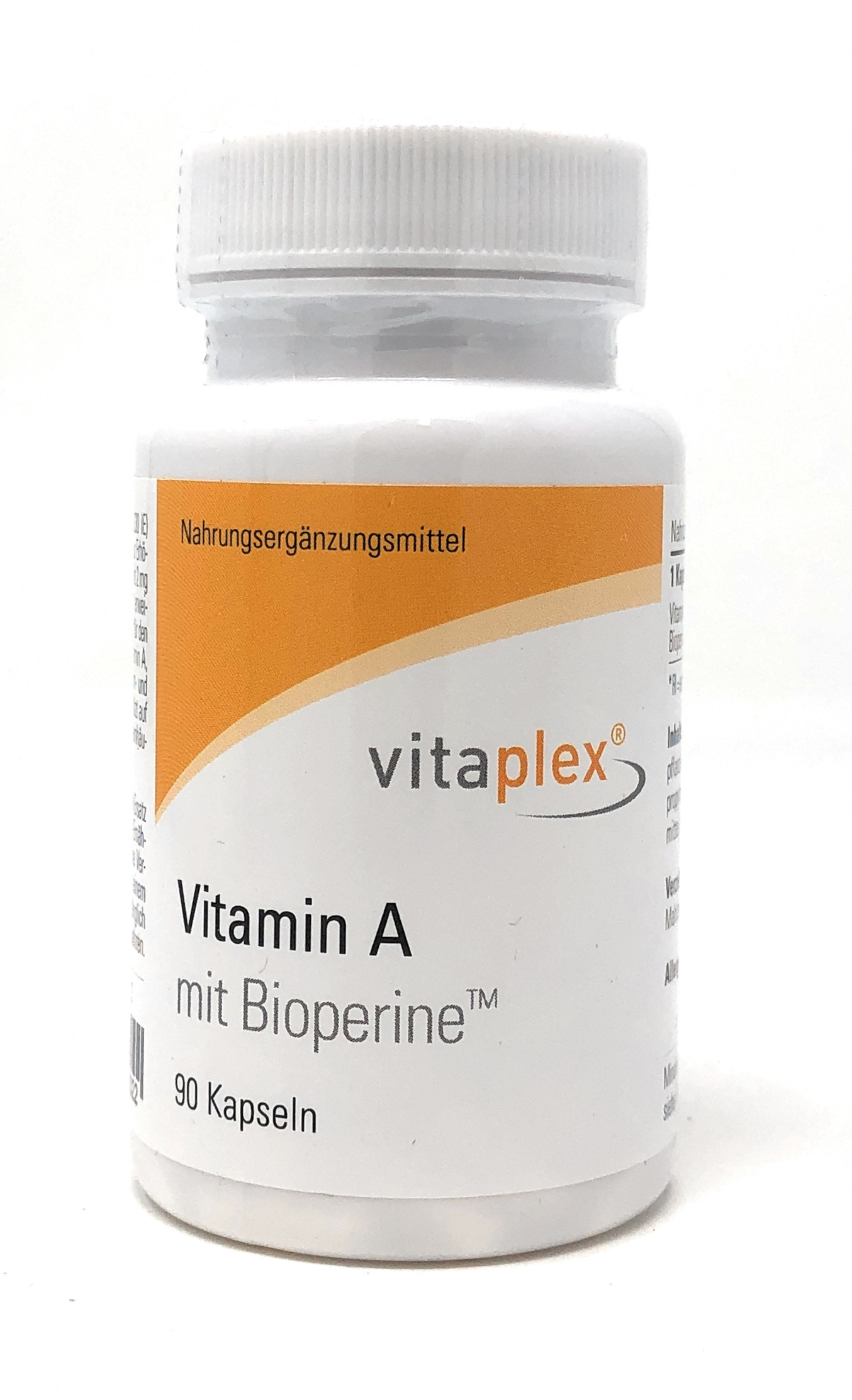 Vitaplex Vitamin A 1.000 RE mit Bioperine 90 veg. Kapseln