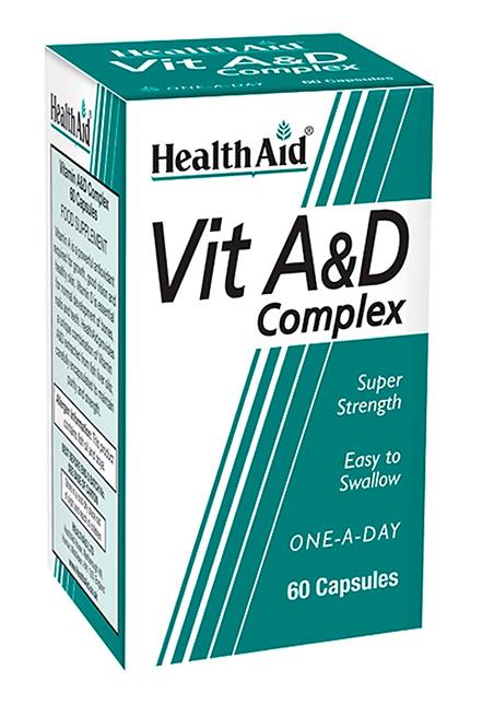 HealthAid Vit A & D Complex 60 Kapseln