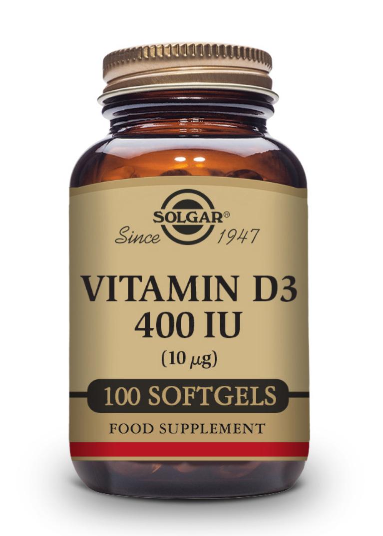 Solgar Vitamin D3 400 IU (10mcg) 100 Softgels
