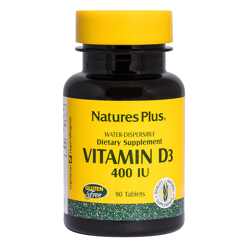 Natures Plus Vitamin D3 400 IE wasserlöslich 90 Tabletten (44,9g)