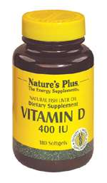 Nature's Plus Vitamin D3 400 IE aus Fischleberöl 180 Softgels (38,2g)