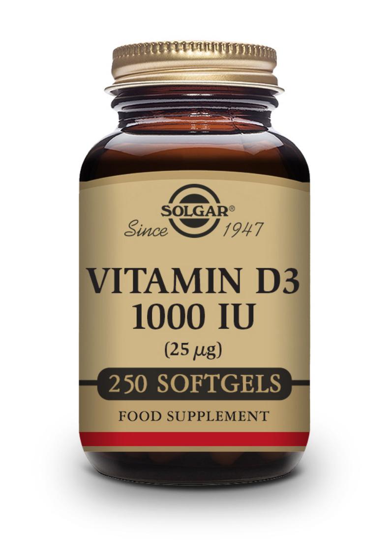 Solgar Vitamin D 25mcg (1000 IU) 250 Softgels