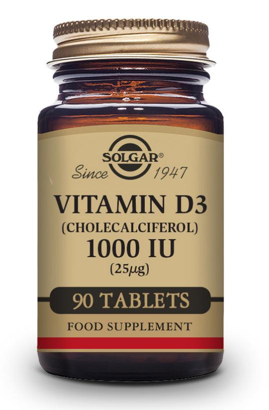 Solgar Vitamin D3 1000 IU (25mcg) 90 Tabletten