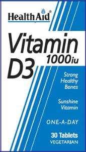 Health Aid Vitamin D3 1000iu 30 Tabletten
