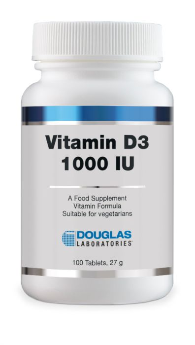 Douglas Laboratories Europe Vitamin D, 1000 I.U. 100 Tabletten (27g)