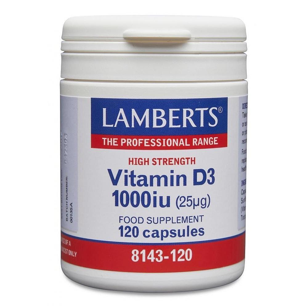 Lamberts Vitamin D 1000 IU 120 Kapseln LB