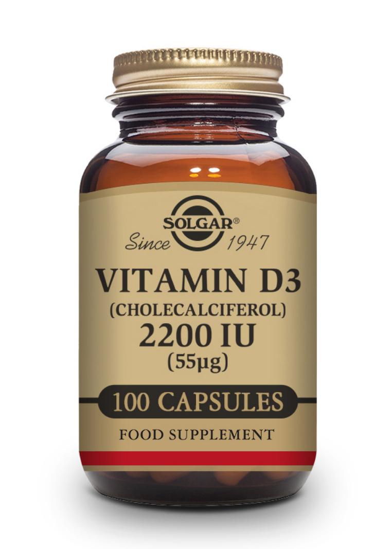 Solgar Vitamin D3 55mcg (2210 IE) 100 veg. Kapseln