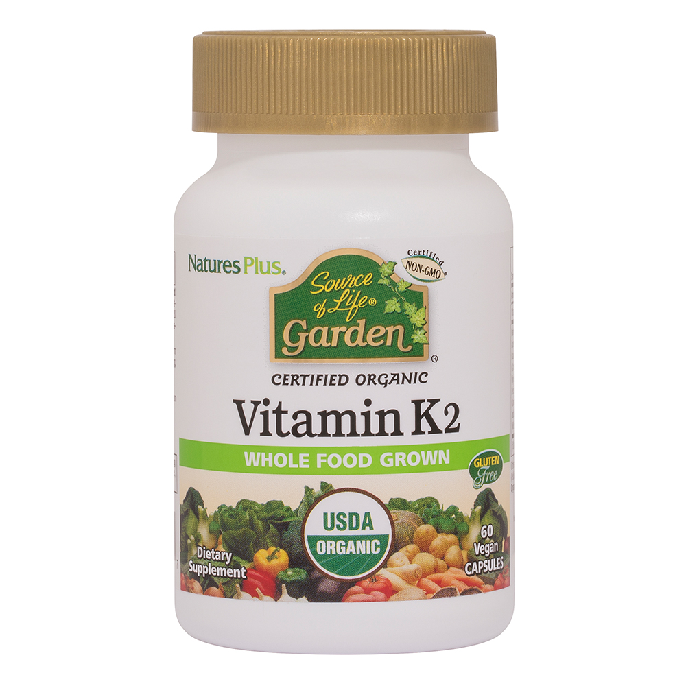 Natures Plus Source of Life® Garden Bio Vitamin K2 120mcg 60 Vcaps® (vegan) (48,5g)