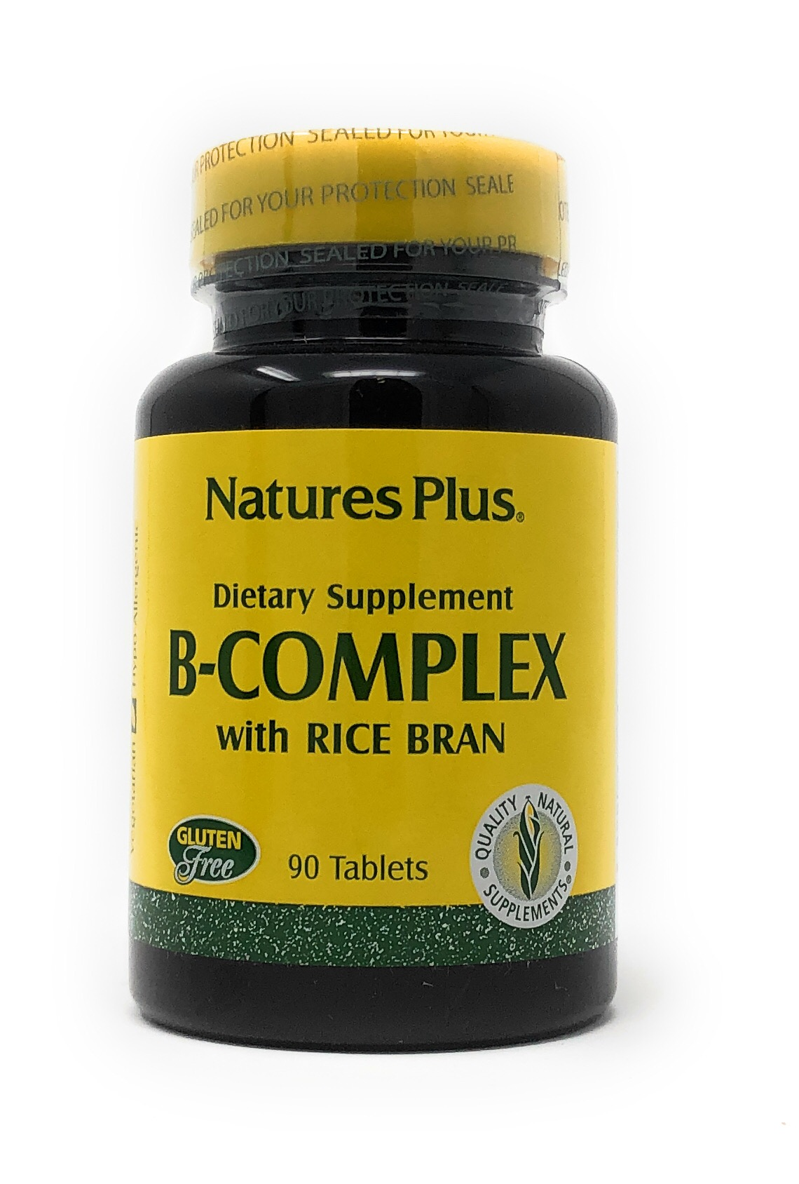 Natures Plus B-Complex Rice Bran (Reiskleie) 90 Tabletten (55,6g)