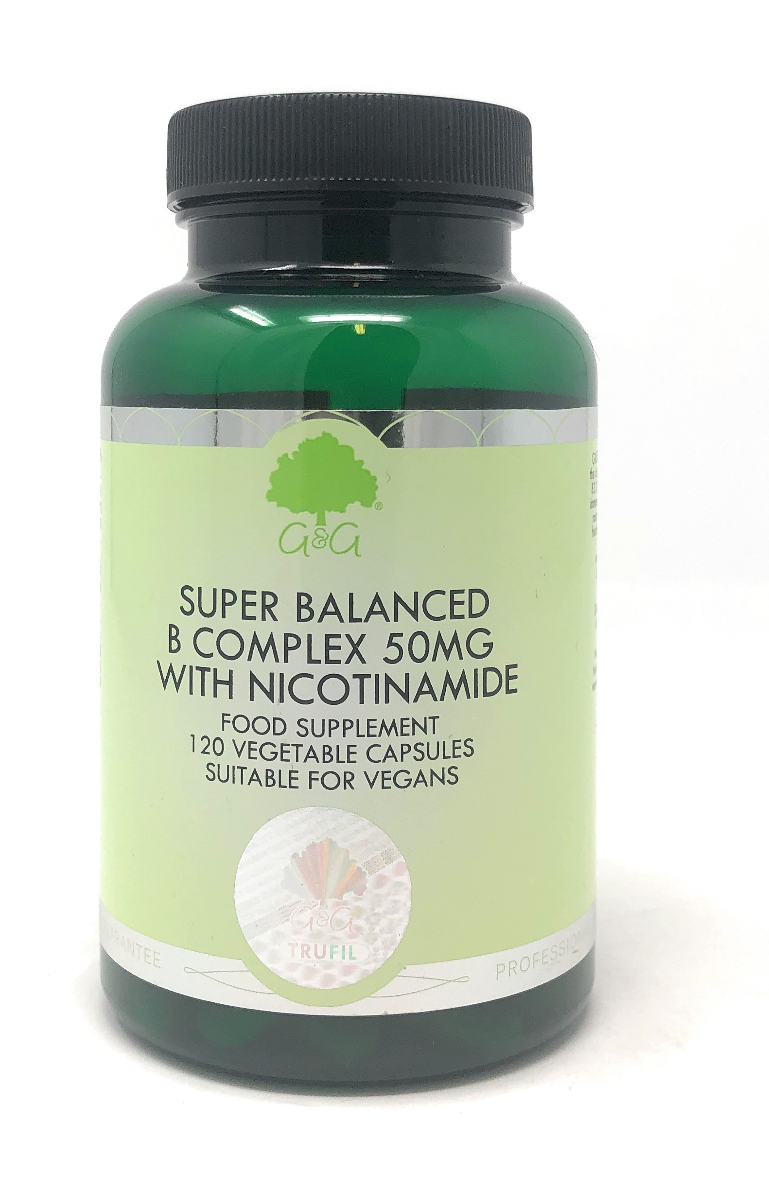 G&G Vitamins Super Balanced B Complex 50mg with Nicotinamide 120 veg. Kapseln (56,8g) (vegan)