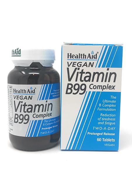 HealthAid Vitamin B99 Complex S/R (verz. Freisetzung) 60 Tabletten (vegan)