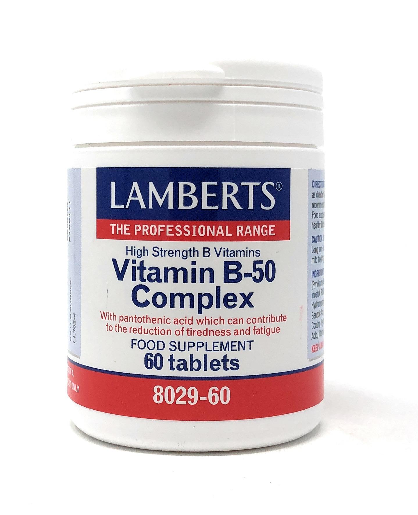 Lamberts Healthcare Vitamin B-50 Complex 60 Tabletten