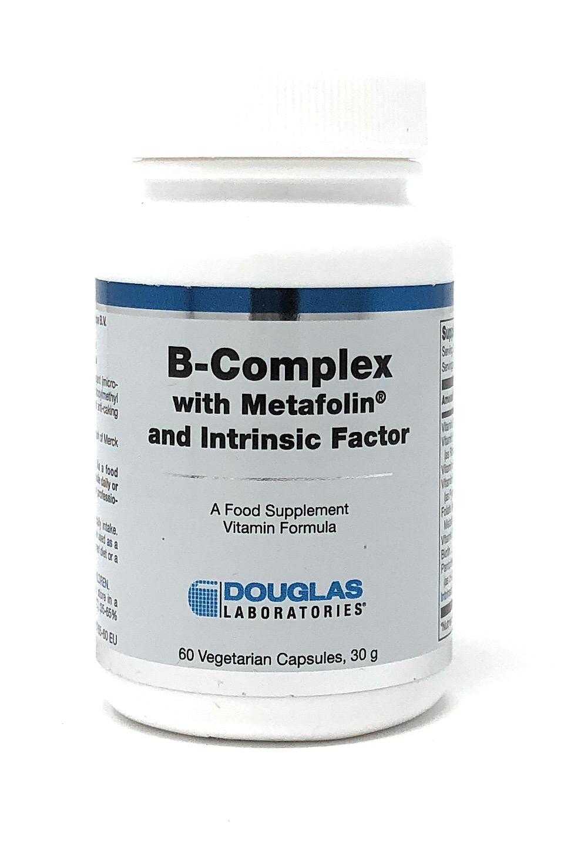 Douglas Labs B-Complex w/Metafolin® and Intrinsic Factor 60 veg. Kapseln (30g)
