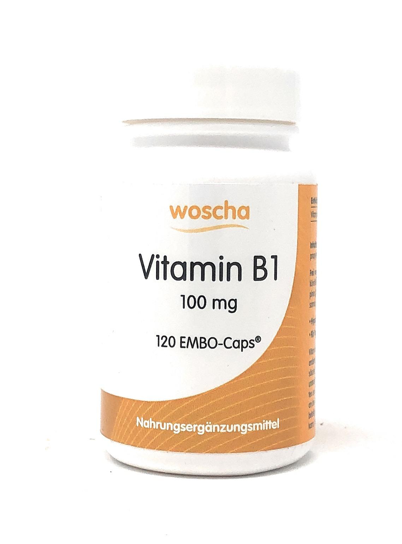 woscha Vitamin B1 100mg 120 EMBO-CAPS® (28g) (vegan)