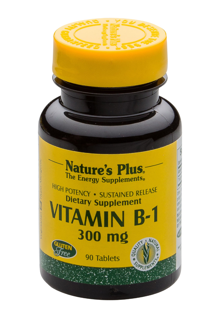 Nature's Plus Vitamin B-1 (Thiamin) 300mg 90 Tabletten S/R (46,7g)